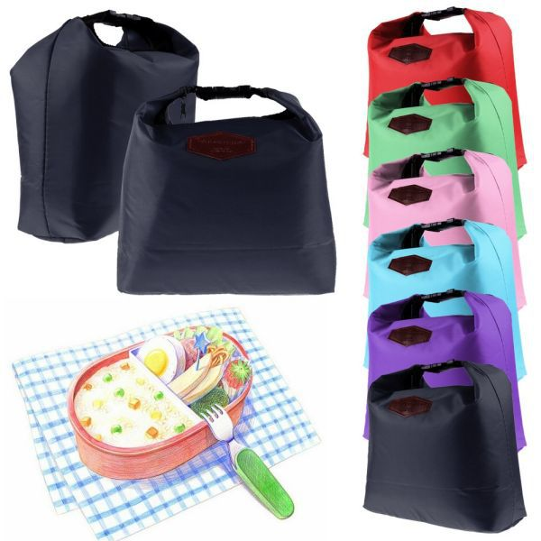 MultiColor Portable Waterproof Travel Picnic Bag Lunch Tote Storage Cooler Thermal Pouch Free Shipping(China (Mainland))