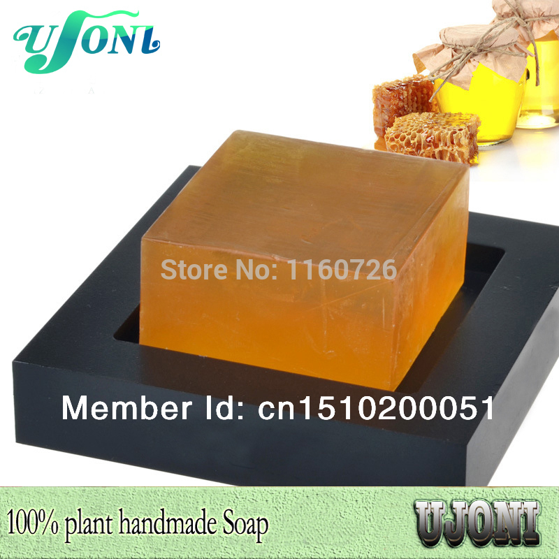 Natural Honey Handmade Soap Clean Face Whitening Soaps Detoxifies Free Shipping 2015 New Limited Special Offer Can Customized(China (Mainland))