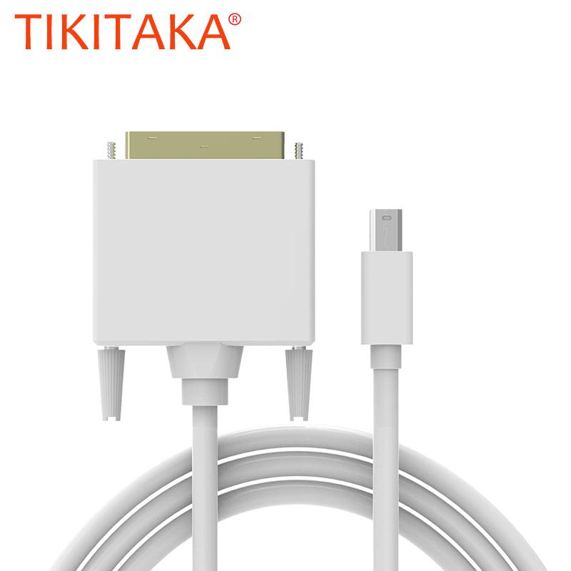 High quality 1.8M mini displayport mini dp to dvi cable adapter converter mini dp male to dvi 24+1 male XC1029(China (Mainland))