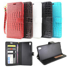 Buy 5 Styles Wallet Case Sony Xperia Z5 Premium Flip Cover Pouch Crocodile PU Leather Phone Bags Cases Sony Z5 Premium Dual for $4.49 in AliExpress store