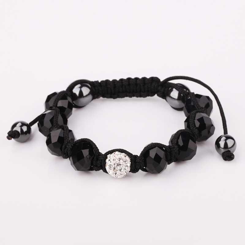 New Style! Free Shipping!10mm Handmade Disco Ball Beads Men Gift Crystal Shamballa Bracelet Fasion Women jewelry BraceletSBB173(China (Mainland))