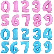 Buy 16 inch number 1 foil balloons large pink blue Air digit printed heart balloon birthday wedding decoration ballon party supplies for $1.04 in AliExpress store