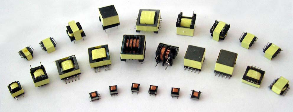 EE25 high voltage welding switch power electronic current flyback horizontal and vertical type LED high frequency transformer(China (Mainland))
