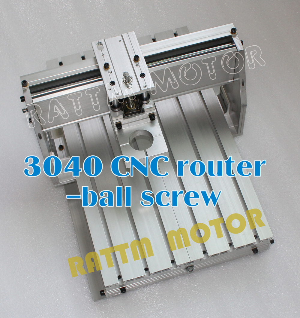3040 Cnc Aluminium Alloy Frame Ball Screw With 43mm Neck