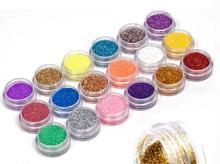 18Colors/set Nail Art acrylic Glitter Nail Art Tool Kit Acrylic UV Powder Dust gem Polish Nail Tools,Nail Art Tip Decoration (China (Mainland))