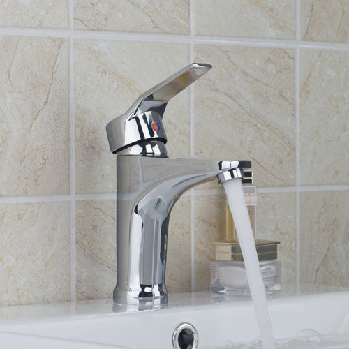 8359 Hot/Cold Water Bathroom Chrome Single Handle+Spray Spout+Brass Body+Two Hose Torneira Wash Basin Sink Tap Mixer Faucet(China (Mainland))