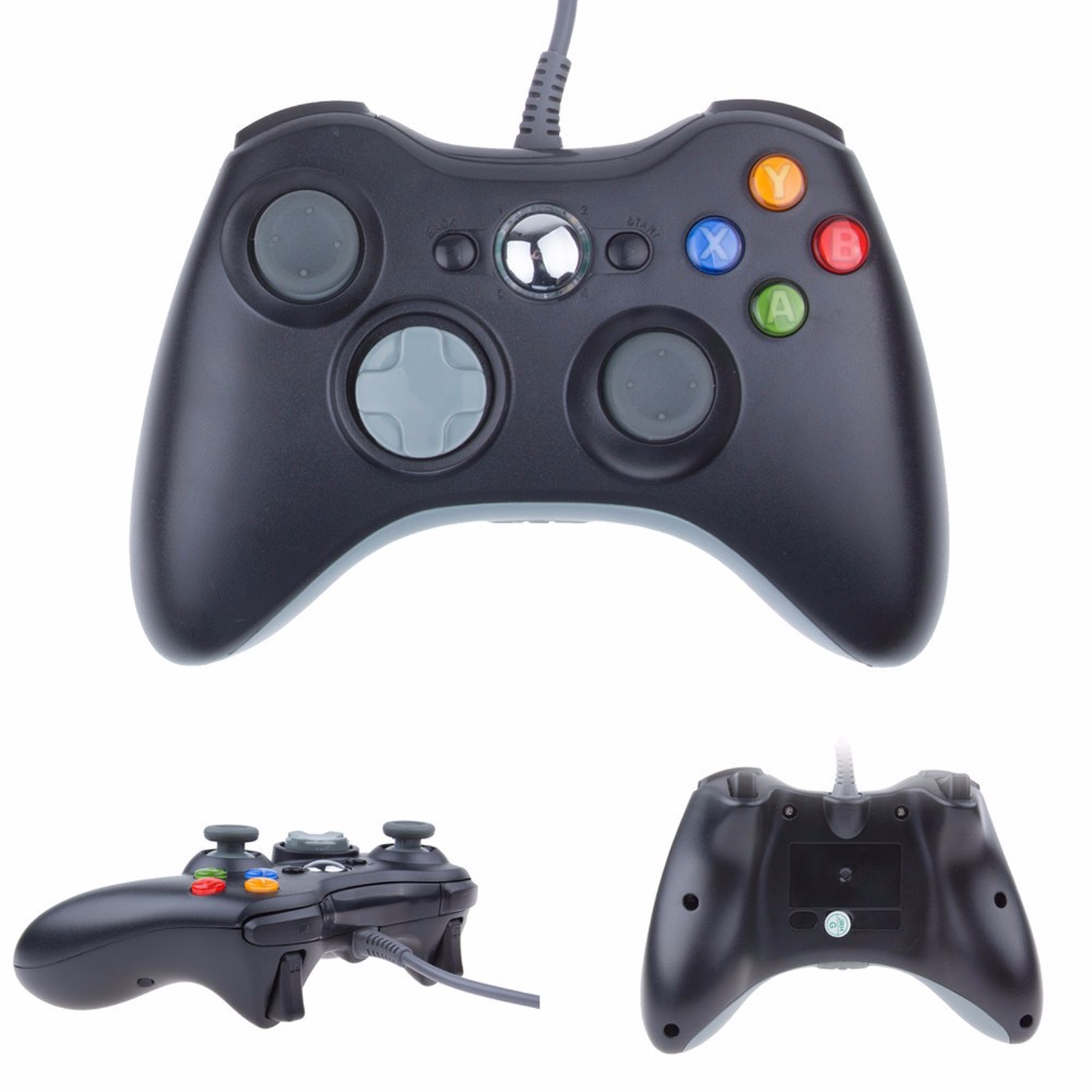 image for USB Wired Joypad Gamepad Black Controller For Xbox 360 Joystick For Of