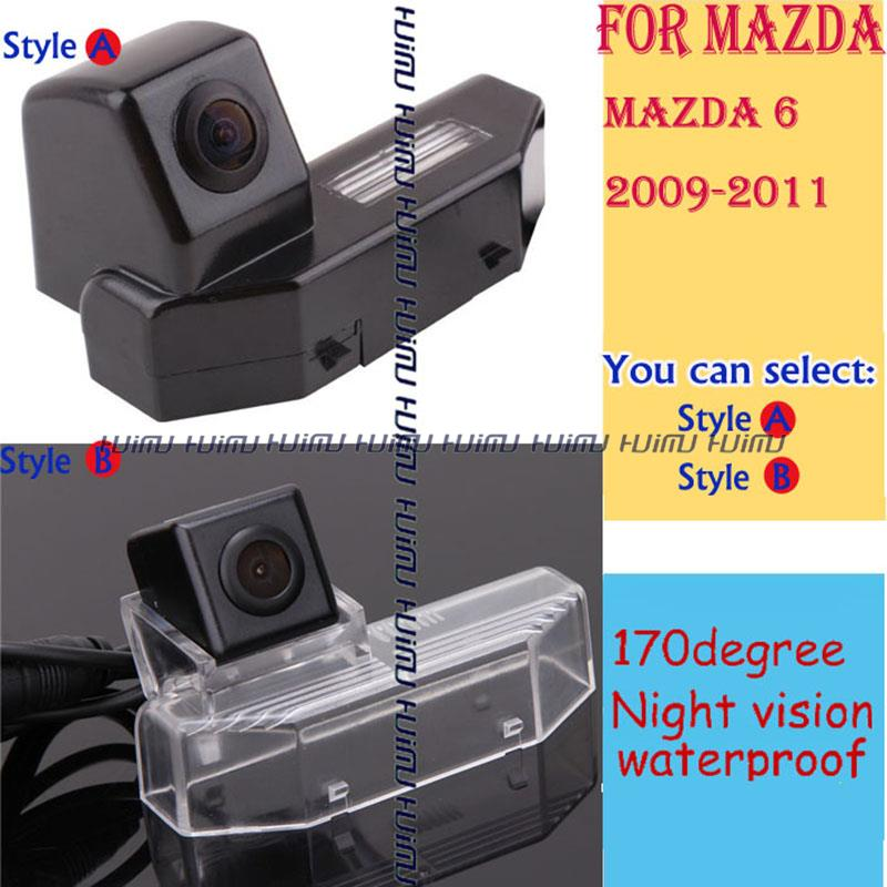 wired/wireless Car Rear View Reverse backup Camera for2009 2010 2011 MAZDA 6 M6 parking assistance(China (Mainland))