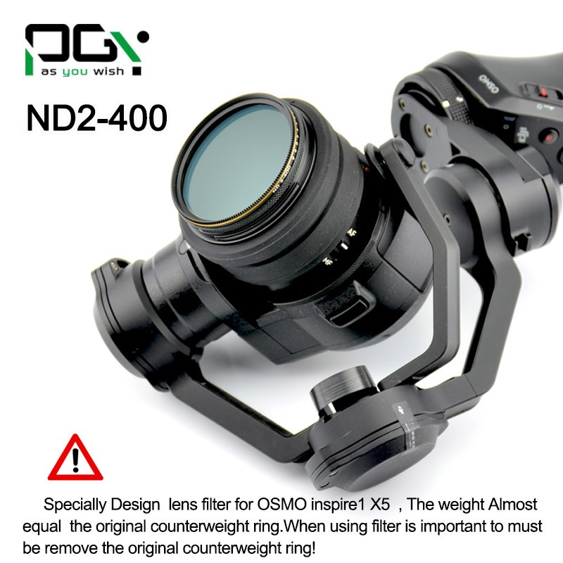 PGY Variable ND Filter Adjustable ND2-400 & CPL Filter For DJI OSMO inspire1 X5 Camera Lens gimbal Quadcopter drone parts