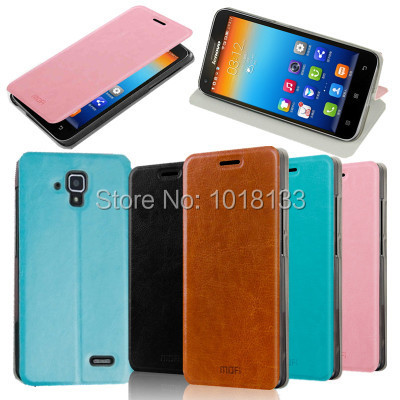Mofi Lenovo A536 Leather Case A358T Flip Cover Protective Gift Screen Protector - Mobile Phone Accessories Home store