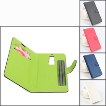 Buy Contrast Color Sticky Flip Cover Leather Case PU Elephone S3 Left Right Magnetic Shell w/ Card Slot & Stand for $4.59 in AliExpress store
