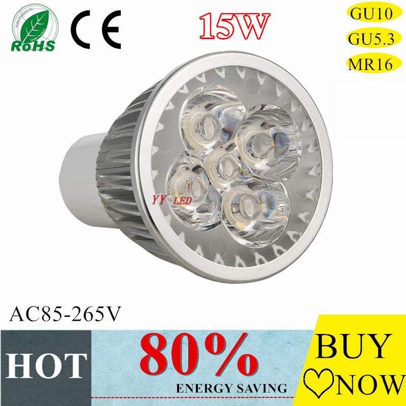 New GU10 LED lamp 9w 12w15w GU5.3 MR16 AC85-265v LED spotlight bulb  living room chandeliers led light bulbs free shipping<br><br>Aliexpress