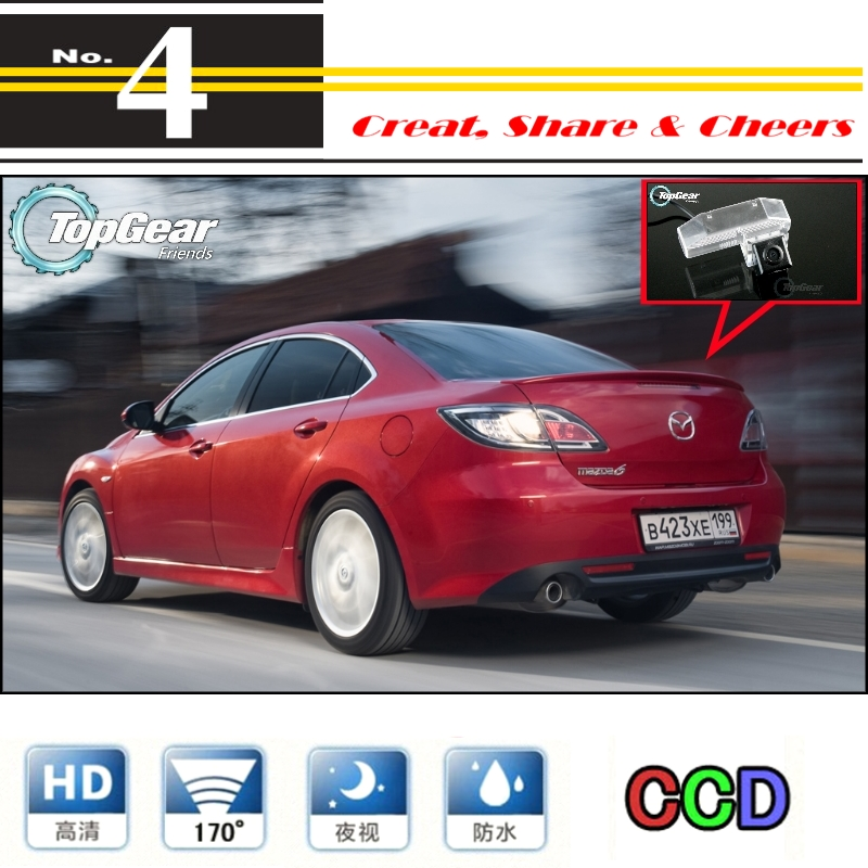 Car Camera For Mazda 6 M6 Mazda6 Atenza GH 2007~2013 High Quality Rear View Back Up Camera For PAL / NTSC   CCD with RCA(China (Mainland))