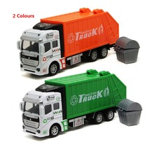kids toy cars truck popular car model toys for children green orange toy garbage truck model car diecast  free shipping(China (Mainland))