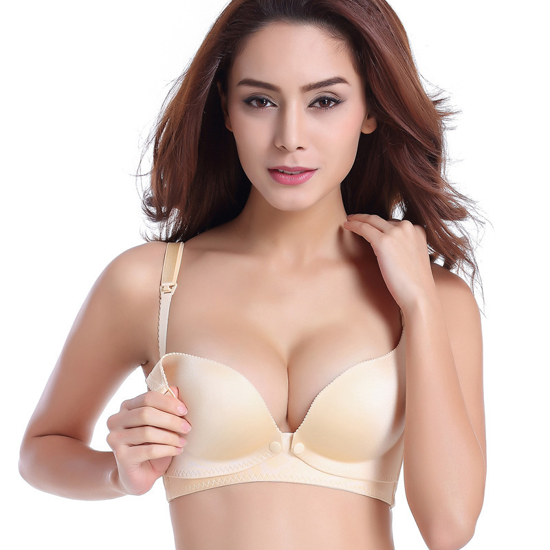 Breast Feeding Maternity Bra Plus Size Nursing Padded Push Up Pregnant Women wire free underwear Mother nursing clothes 34-42<br><br>Aliexpress