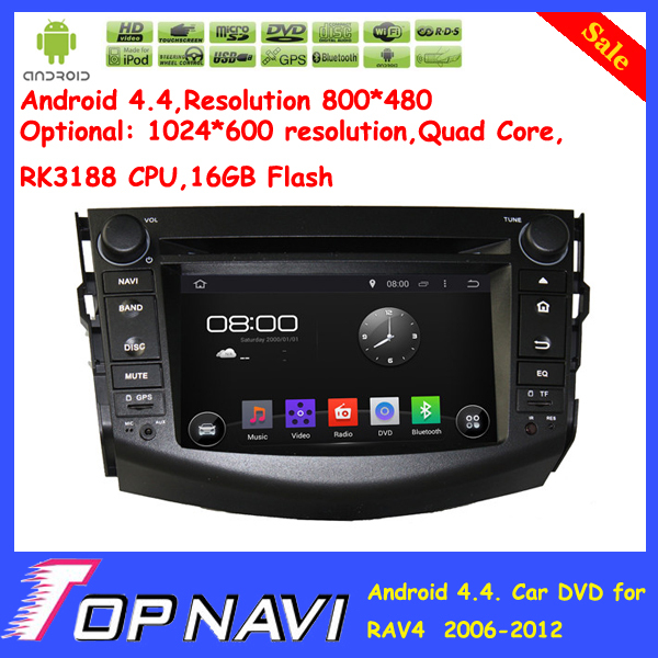 Top Profesisonal Cortex A9 Dual-Core Android 4.4 Car DVD GPS For RAV4 2006 2007 2008 2009 2010 2011 2012 With Map Free Shipping<br><br>Aliexpress
