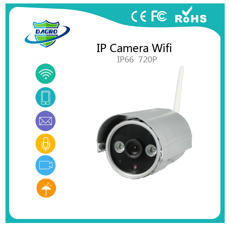 P2P ONVIF 1.0mp Insert TF card 720P HD Wireless IP Camera WifI Outdoor Waterproof Camera IP ABS Plastic 2 Array Lights IR X3005(China (Mainland))