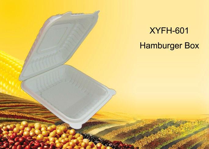 Biodegradable Hamburger Box,eco burger box,cornstarch high quality container,food packaging box 450ml(China (Mainland))