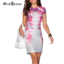 Floral Summer Dress 2016 Elegant Bodycon Women Dress New Arrival Fashion Casual Silver Purple Red Ladies Vestidos Backless(China (Mainland))