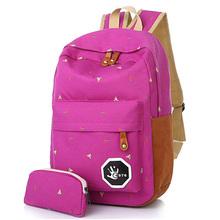 2016 Fashion Women Canvas Backpack School Bag Printing Backpack For Teenage Girls Mochila Ladies Casual Travel Rucksack(China (Mainland))