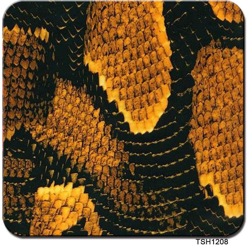 TSAUTOP TS1208 0.5m*10m HOT Yellow Snake Skin Design Water Transfer Printing Film Transfer Printing Film(China (Mainland))