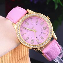 2015 Geneva watch exclusive new authentic gold diamond belt Roman literally women dress big love