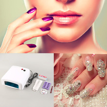 New Promotion 36W Nail Art LED UV Gel Curing Lamp Dryer Timer +Full Nail kit set+FREE Gifts Hot New Arrival(China (Mainland))