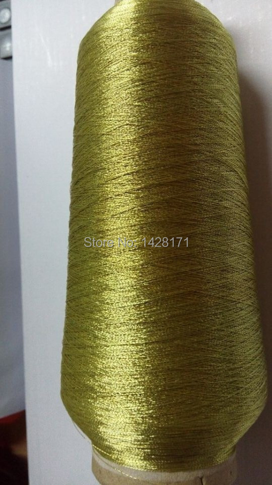 New brand Simthread hot selling 150D Ms type metallic embroidery thread gold color with free shipping.(China (Mainland))