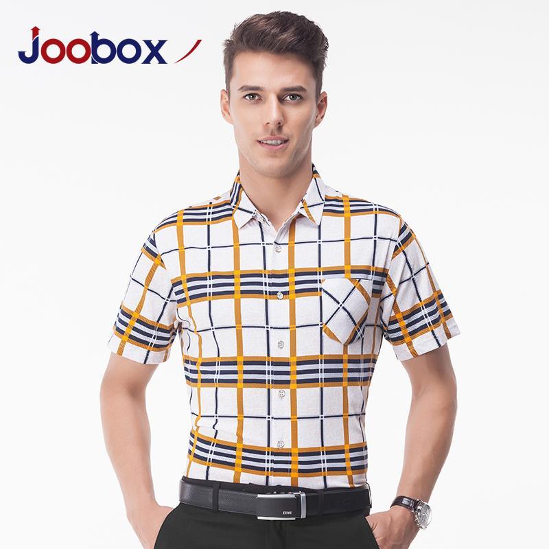 2016 european and american men 39 s short sleeved plaid shirt for European mens dress shirts