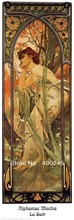 Museum quality,Alphonse Mucha Evening,Art oil painting for sale,decorative painting,oil on canvas,100%hand-painted,free shipping