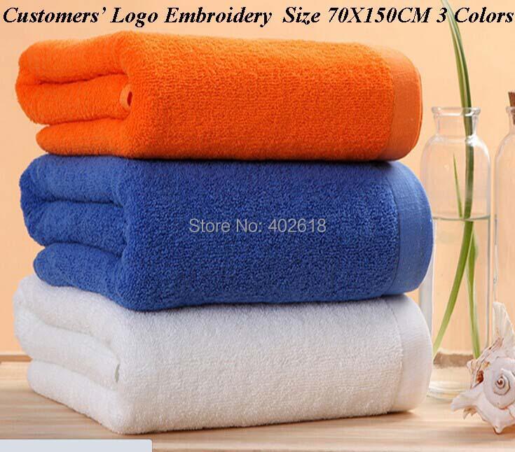 (100PCS/Lot) Customers LOGO Towel, Bath Towel,100%Cotton