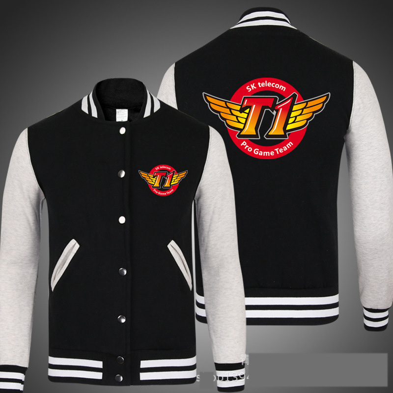 2016 newest skt t1 jacket Faker Marin LOL finals skt1 Unisex Long Sleeve Cosplay Baseball mens womens jackets and skt coats(China (Mainland))