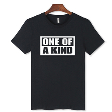 BigBang Black/white T-Shirt Men O-Neck Cotton ONE OF A KIND Cotton Teeshirt With 2016 Men Fashion Tshirts Brand 3XL(China (Mainland))
