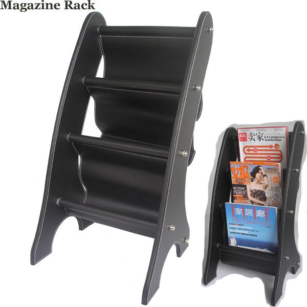 Kingfom Leather Portable Magazine Rack News Stand Magazine Holder for Car Accessory Black A049(China (Mainland))
