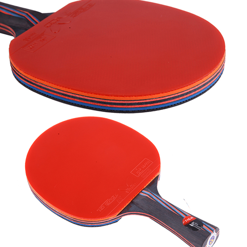 Carbon table tennis rackets shakehand paddle wooden handle grip long holder professional good quality hybrid wood rackets(China (Mainland))