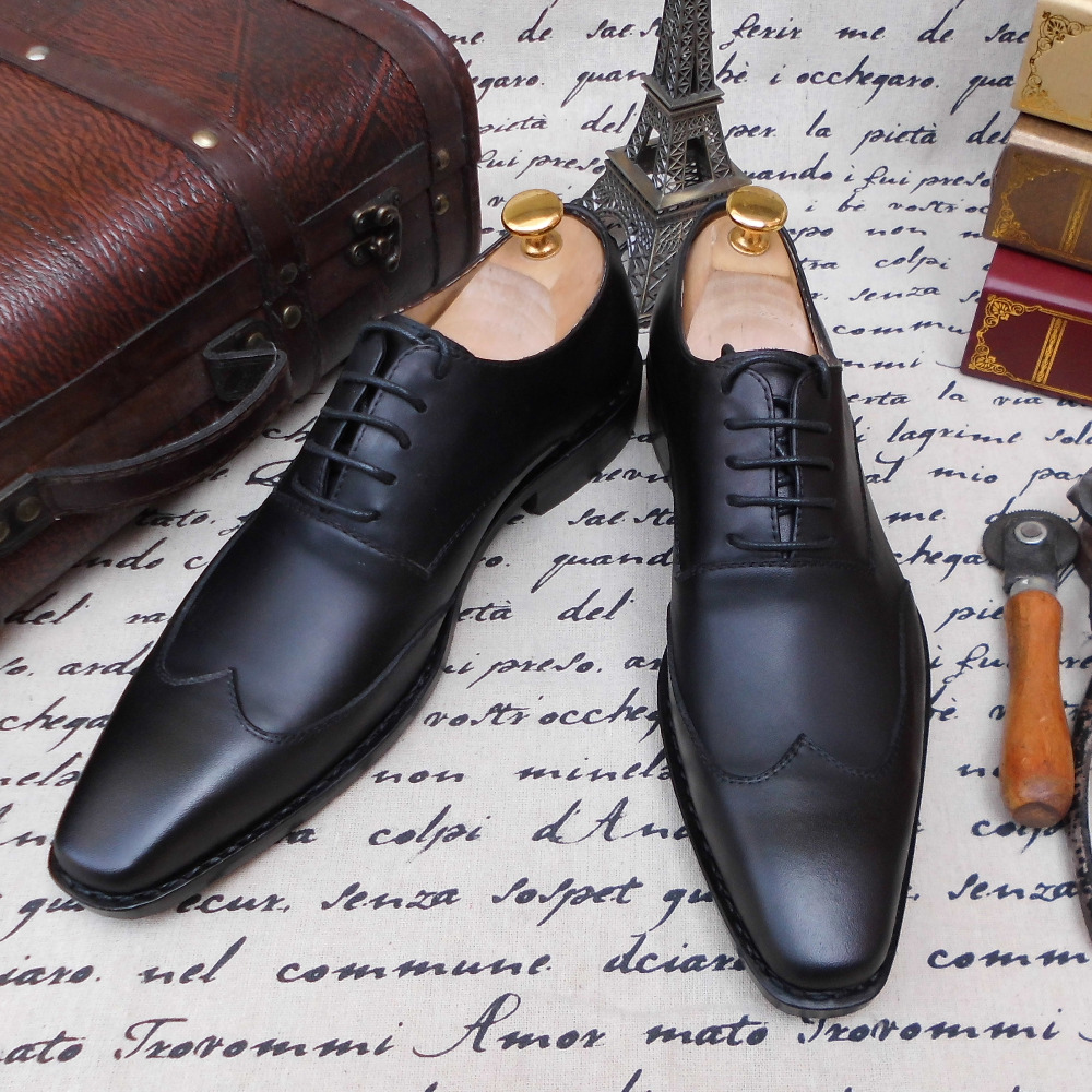 SKP60 Brown Genuine Leather Flat Handmade Men Dress Shoe,  Business Mens Shoes Leather Lining, Leather Outsole,Size 38~48<br><br>Aliexpress
