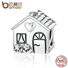 Buy BAMOER Authentic 925 Sterling Silver Love Heart House Charms Fit Bracelets Families Gift Fine Jewelry PAS341 for $10.46 in AliExpress store