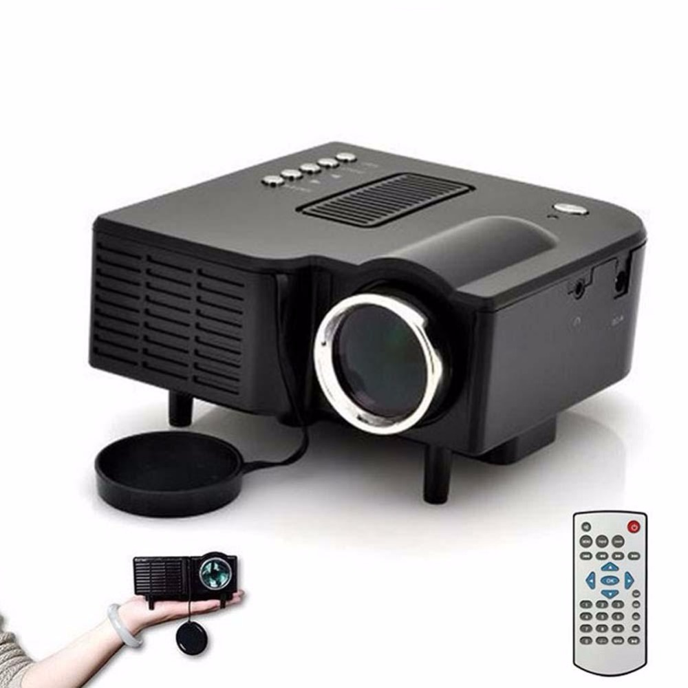 Hd 1080p led multimedia projector home theater cinema av for Hd projector