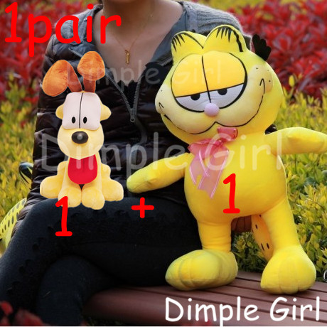 1SET cute anime figure funny kawaii yellow Odie dog plush soft toy cat garfield stuffed animal baby child gift xmas novelty item<br><br>Aliexpress