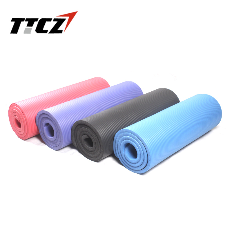 50off New Arrival Yoga mat thicker broadened 15mm thickening fitness Soft NBR Yoga mats high quality body building 4 colors<br><br>Aliexpress