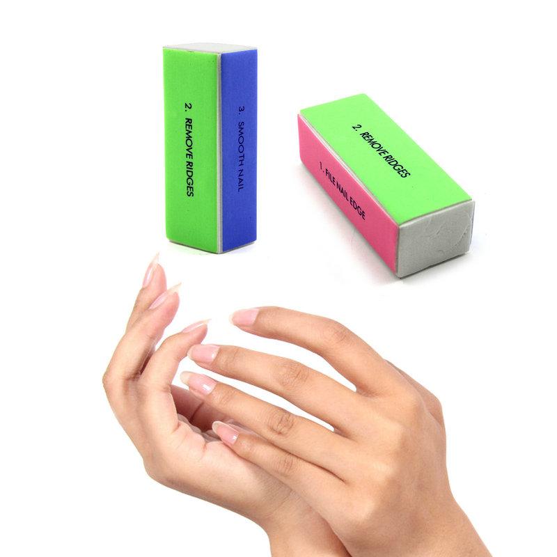 2 pçs/lote mulheres meninas DIY Nail Art cuidados Buffers Manicure lustrando lixar arquivos bloco