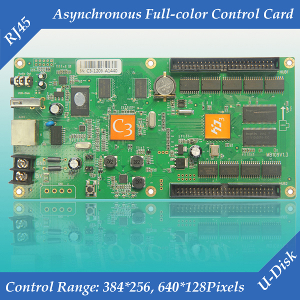 HD-C3 vedio and audio output asynchronous led full color display controller card with high gray(China (Mainland))