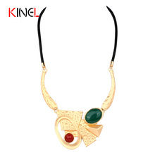 """Leather Bib Necklace For Women Abstract Ideas Geometry Letter """"OK"""" Plating Gold Statement Necklace Brand Design Fine Jewelry(China (Mainland))"""