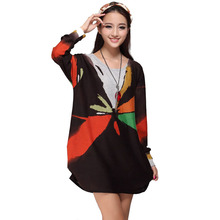 Beautiful Cheap Dresses Women Winter Dress 2015 Long Sleeve Korean Kawaii Desigual Vintage loose Vestidos Plus Size Vestido Robe