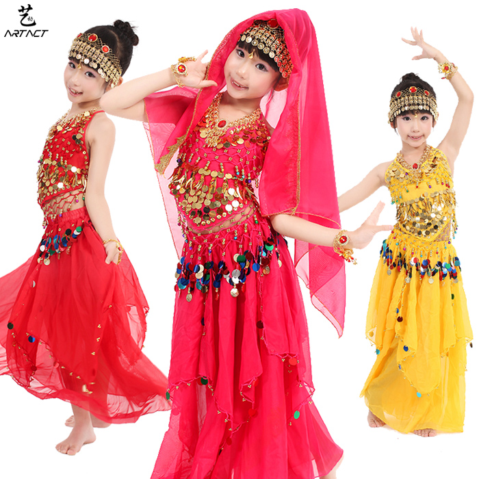 Children's Dress child belly dance set female Girl indian dance costume clothes(China (Mainland))