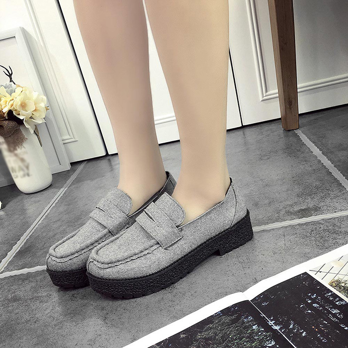 2016 new school shoes with thick Korean wind thick soled shoes small British female retro suede shoes<br><br>Aliexpress