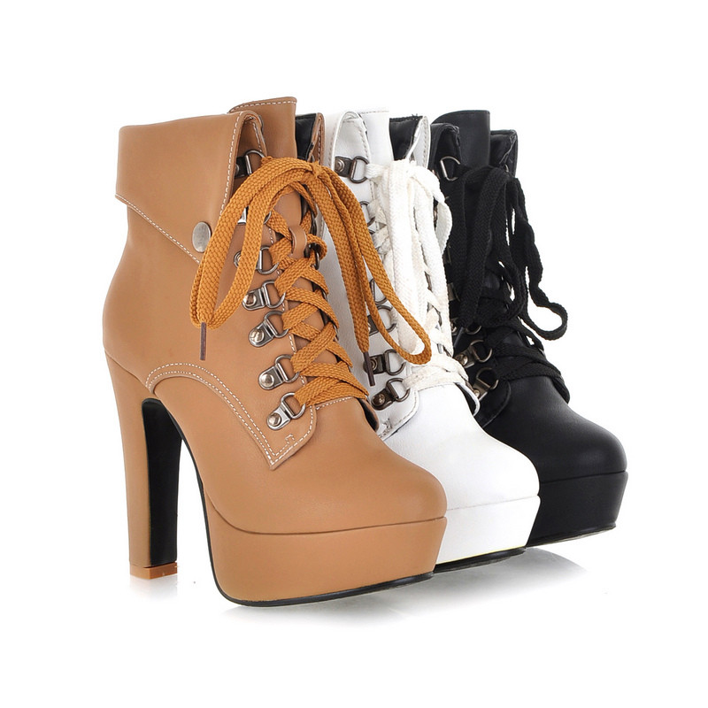 Aliexpress.com : Buy New arrival Plus Size High Heel Boots ...