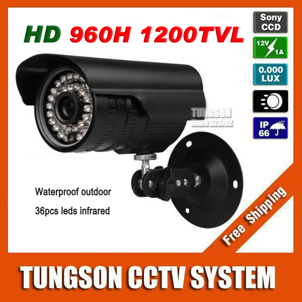 Home Video Surveillance Bullet Sony CCD 960H Effio 1200TVL Outdoor Waterproof 36led Infrared CCTV Camera Security(China (Mainland))
