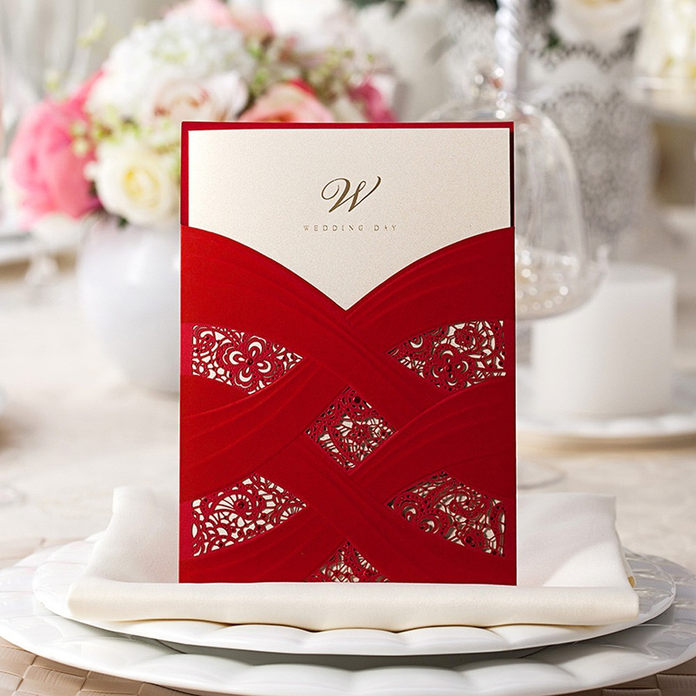 Wholesale Sample Elegant Laser Cut Personalized Wedding Invitations ...