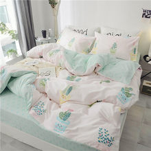 Floral PrintUltra Soft 100%Cotton Twin Queen Bedding Set King size Bed Fitted sheet Kids Girls Bed set Duvet cover Pillowcases(China)